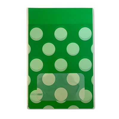 タワレコ 推し色ラッピング袋 Green(水玉)[MD01-5563]