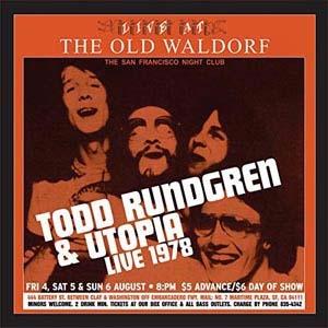 Todd Rundgren/Live At The Old Waldorf (Gold Vinyl)<限定盤>[RGM0505]