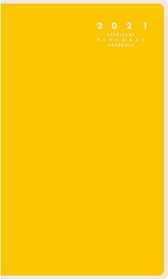 高橋書店 手帳は高橋 リベル インデックス 5 [ドルチェ・レモン] 手帳 2021年 手帳判 マンスリー クリアカバー 黄色 No.305 (2021年版1月始まり)[9784471803056]