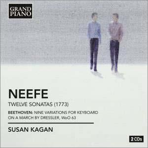 スーザン・カガン/C.G.Neefe: Complete Piano Sonatas - 12 Sonatas No.1-No.12; Beethoven: 9 Variations on a March by Dressler WoO.63[GP615]