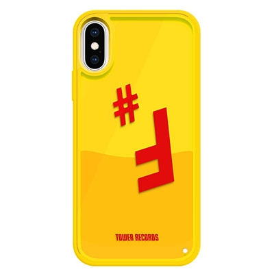Hash Feat.#F × TOWER RECORDS OIL LIQUID CASE iPhone X / XS[MD01-5518]