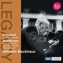 ヴィルヘルム・バックハウス/シューベルト: 即興曲 D.935、ベートーヴェン: ピアノ・ソナタ第6番、第29番《ハンマークラヴィーア》[ICAC5055]