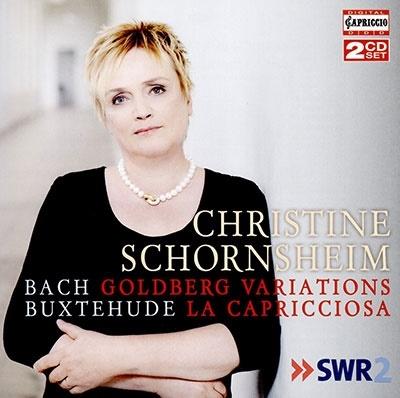 クリスティーネ・ショルンスハイム/J.S.バッハ: ゴルトベルク変奏曲、ブクステフーデ: アリア『ラ・カプリチョーザ』による32の変奏曲[C5286]