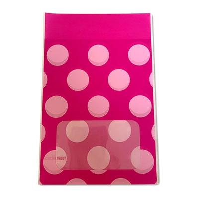 タワレコ 推し色ラッピング袋 Pink(水玉)[MD01-5564]