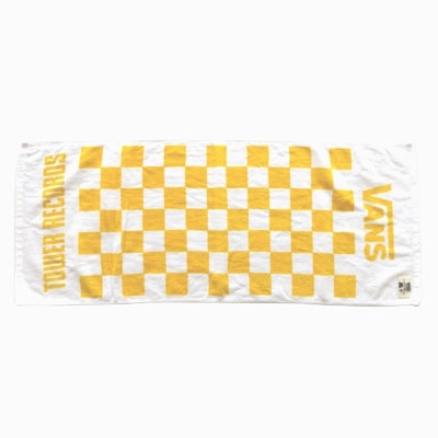 VANS×TOWER RECORDS Checker Towel WHITE/YELLOW Accessories