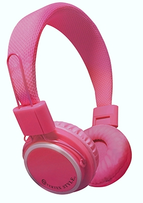 VERTEX 密閉式ダイナミック型ヘッドホン VTH-OH02 Pink [VTH-OH02PK]
