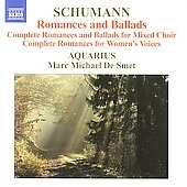 Aquarius/Schumann: Romances and Ballads I-IV, Romances I, II (7/1-3/2004, 2/26/2006) / Marc Michael de Smet(cond), Aquarius[8570456]