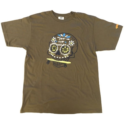 VANS×TOWER RECORDS MEX SKULL Tee OLIVE/S[MD01-2401]