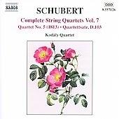 コダーイ・カルテット/Schubert:Complete String Quartets Vol.7 -