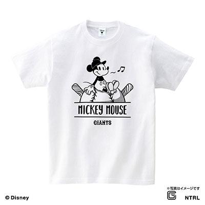 読売ジャイアンツ / ミッキーマウス (ひとやすみ) Tシャツ ホワイト 130cm[4582568009573]