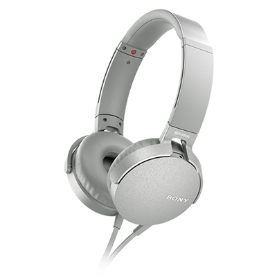 SONY ステレオヘッドホン(リモコン付) MDR-XB550 ホワイト [MDRXB550APWC]