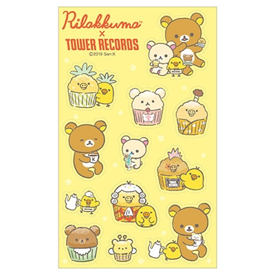 Rilakkuma × TOWER RECORDS コラボクリアシール 2019 Accessories