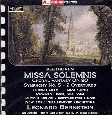 レナード・バーンスタイン/Beethoven: Missa Solemnis Op.123 , Choral Fantasy Op.80, Symphony No.5, etc[WS121196]