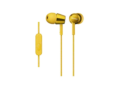 SONY スマートフォン用密閉型インナーイヤーレシーバー(リモコン付) MDR-EX150AP/Yellow [MDREX150APYQ]