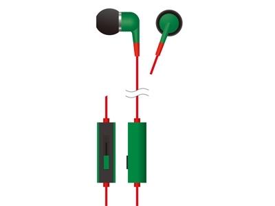 VERTEX ボリュームコントローラー付きカナルインナーホン G/B [VTH-IC013G/B]