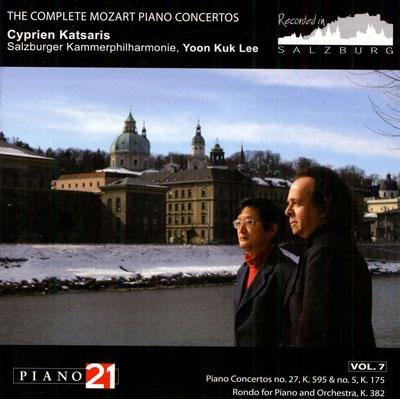 シプリアン・カツァリス/Mozart: Complete Piano Concertos Vol.7 - No.27, No.5, Rondo K.382[P21039N]