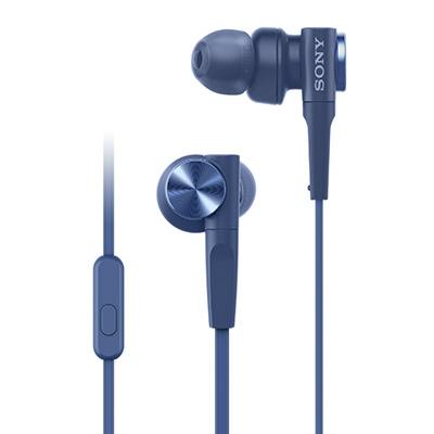 SONY スマートフォン用密閉型インナーイヤーレシーバー(リモコン付) MDR-XB55AP/Blue [MDRXB55APL]
