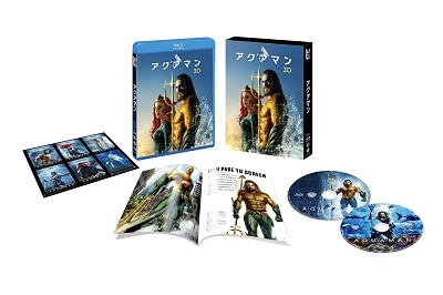 ジェームズ・ワン/アクアマン [3D Blu-ray Disc+Blu-ray Disc]<初回仕様版/ブックレット&キャラクターステッカー付>[1000744567]