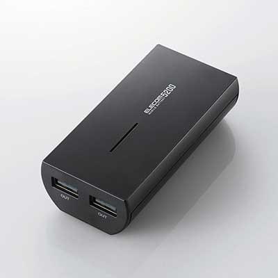 ELECOM モバイルバッテリー 5200mAh/Black [DE-M01L-5230BK]