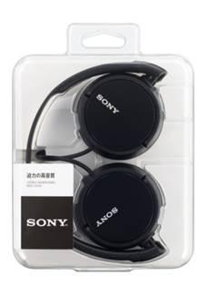 SONY ステレオヘッドホン MDR-ZX110 ブラック [MDRZX110B]
