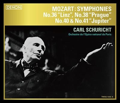 カール・シューリヒト/モーツァルト: 交響曲第36番「リンツ」, 第38番「プラハ」, 第40番, 第41番「ジュピター」 [TWSA-1005]