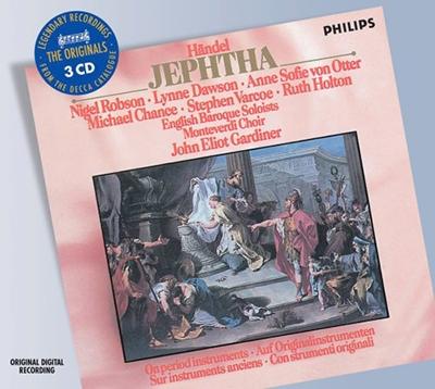 イギリス・バロック管弦楽団/Handel : Jephtha (6/13-16/1988) / John Eliot Gardiner(cond), English Baroque Soloists, Monteverdi Choir, Nigel Robson(T), Lynne Dawson(S), etc[4780398]