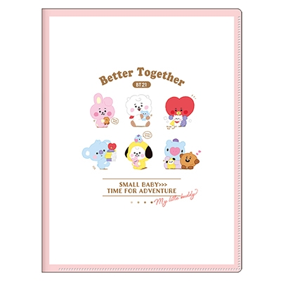 BT21 10ポケットクリアファイル/ちびぬい 整列 Accessories