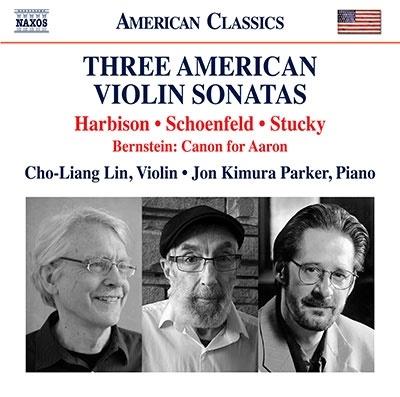 チョー・リャンリン/3つのアメリカのヴァイオリン・ソナタ[8559888]