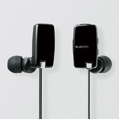 ELECOM aptX搭載 マイク付Bluetoothイヤホン/Black [LBTHP05NMPBK]