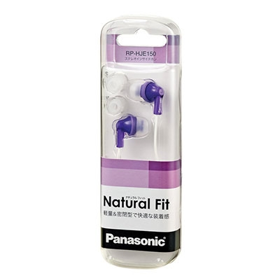 Panasonic ステレオインサイドホン RP-HJE150 Purple[RP-HJE150-V]