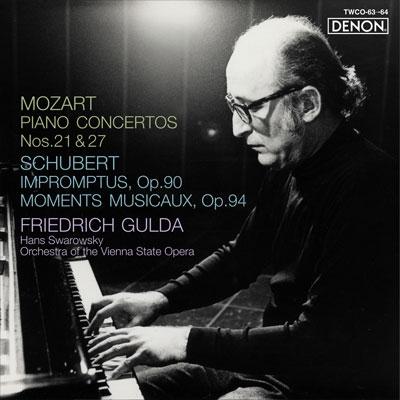 フリードリヒ・グルダ/モーツァルト: ピアノ協奏曲第21番&第27番; シューベルト: 即興曲 Op.90, 楽興の時 Op.94 [TWCO-63]