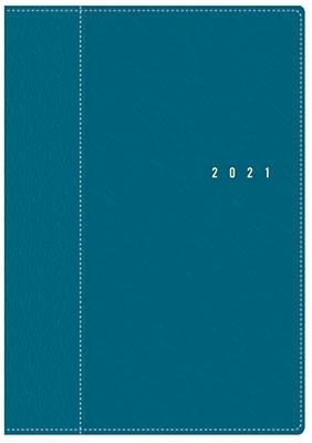 高橋書店 手帳は高橋 シャルム(R) 8 [ターコイズ] 手帳 2021年 B6判 ウィークリー 皮革調 ブルー No.358 ( Book