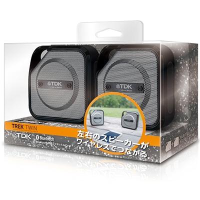TDK TREK TWIN Bluetooth防塵・防滴ワイヤレススピーカー/Black [A20BK]