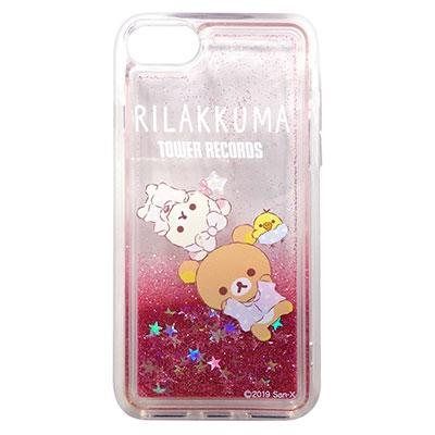 Rilakkuma × TOWER RECORDS コラボグリッタースマホケース iPhone8/7/6s/6対応 2019 Winter[MD01-5338]