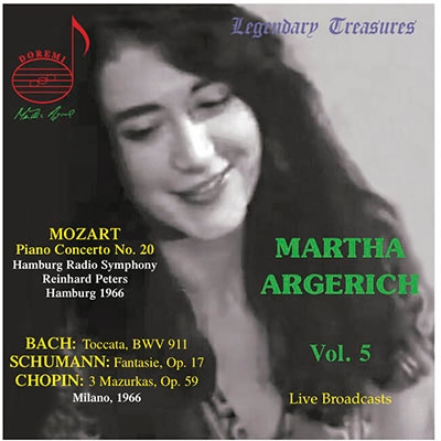 マルタ・アルゲリッチ/Mozart: Piano Concerto No.20; J.S.Bach: Toccata BWV.911; Schumann: Fantasie Op.17; Chopin: 3 Mazurkas Op.59[DHR8048]