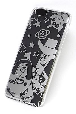 ディズニー iPhone6 カスタムカバー シルバー (トイストーリー シルエット) [RUNA239484]