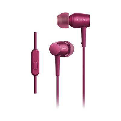 SONY ハイレゾ対応 リモコン付イヤホン h.ear in MDR-EX750AP ボルドーピンク [MDREX750APPM]