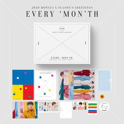 MONSTA X 2020 SEASON'S GREETINGS [CALENDAR+DVD+GOODS] Book
