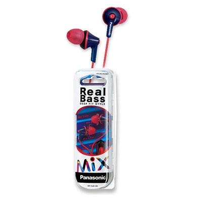 Panasonic ステレオインサイドホン RP-HJE165 Blue Red[RP-HJE165-AR]