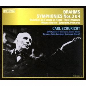 カール・シューリヒト/ブラームス:交響曲第3番/第4番、他 [TWSA-1001]
