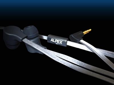 ALPEX リフレクターイヤフォン AHP-111 Black [AHP-111BK]