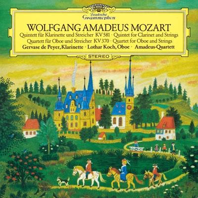 アマデウス弦楽四重奏団/モーツァルト: クラリネット五重奏曲, オーボエ四重奏曲 [PROC-1369]