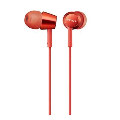 SONY スマートフォン用密閉型インナーイヤーレシーバー(リモコン付) MDR-EX155AP/Red [MDREX155APR]