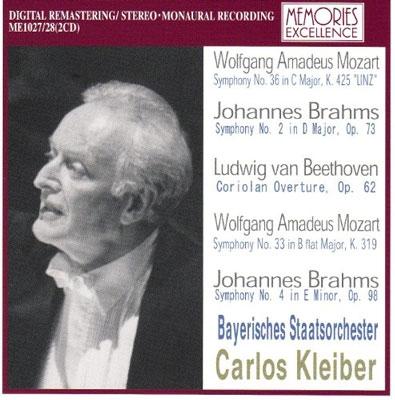 Mozart: Symphony No.36, No.33; Brahms: Symphony No.2; Beethoven: Coriolan Overture