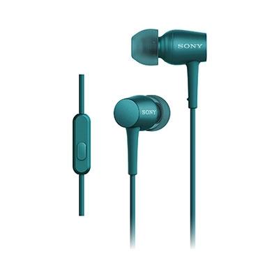 SONY ハイレゾ対応 リモコン付イヤホン h.ear in MDR-EX750AP ビリジアンブルー [MDREX750APLM]