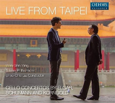 Live from Taipei - Cello Concertos by Elgar, Schumann and Korngold