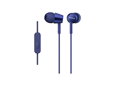 SONY スマートフォン用密閉型インナーイヤーレシーバー(リモコン付) MDR-EX150AP/Blue[MDREX150APLIQJ]