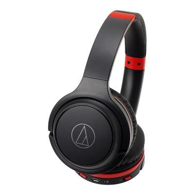 audio-technica ワイヤレスヘッドホン ATH-S200BT ブラックレッド[ATH-S200BTBRD]