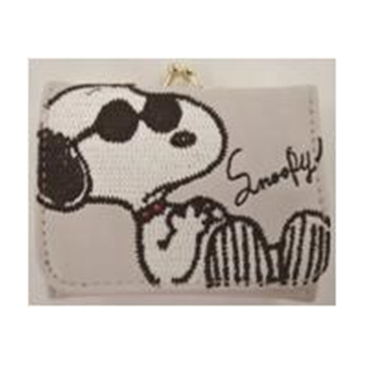 SNOOPY コンパクト財布 ビッグモチーフ/グレー [SPM642  ]