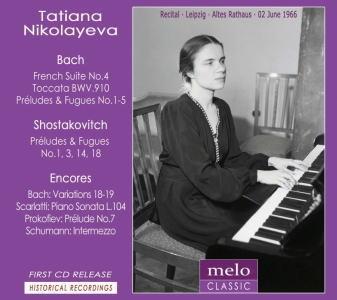 タチアナ・ニコラーエワ/Tatiana Nikolayeva - The Leipzig Piano Recital 1966 [MC1019]